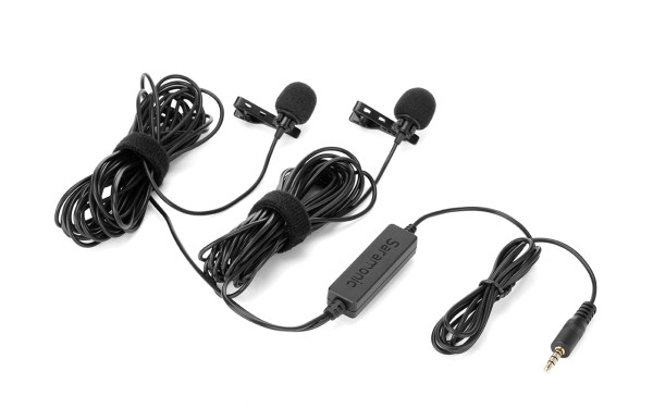SARAMONIC LavMicro 2M (Two Microphones Capsules and Clips for Dialogue)
